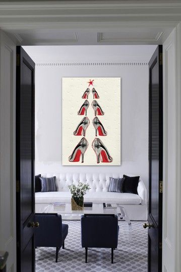 "Oliver Gal ""Christmas Tree 2013"" Canvas Art by Oliver Gal Gallery on @HauteLook"