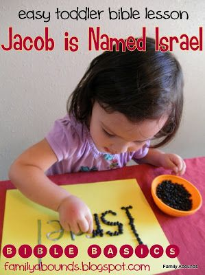 Toddler And Preschool Bible Lesson Jacob Is Named Israel
