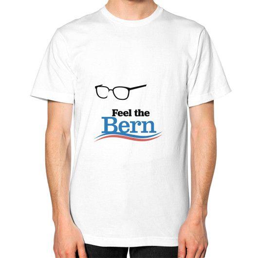 Feel The Bern Bernie Sanders Unisex T-Shirt (on man)