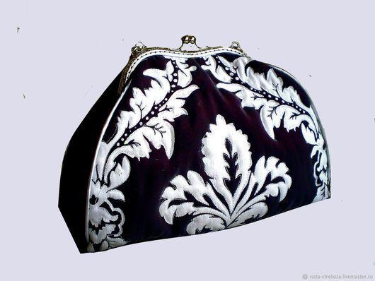 Женские сумки ручной работы. Ярмарка Мастеров - ручная работа. Купить Сумочка к вечернему платью. Handmade. Тёмно-фиолетовый, кружево