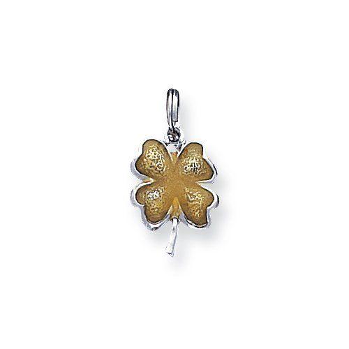 Sterling Silver Enameled 4 Leaf Clover Charm goldia. $14.22