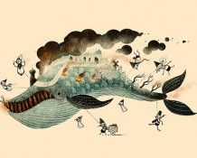 Scott Benson, illustrator and animator: Scott Benson, Illustrations Inspiration, Animal Illustrations, L'Wren Scott, Fish Whales, Whales Art, Marvel Fish, 19X12 5 Prints, Winter Illustrations