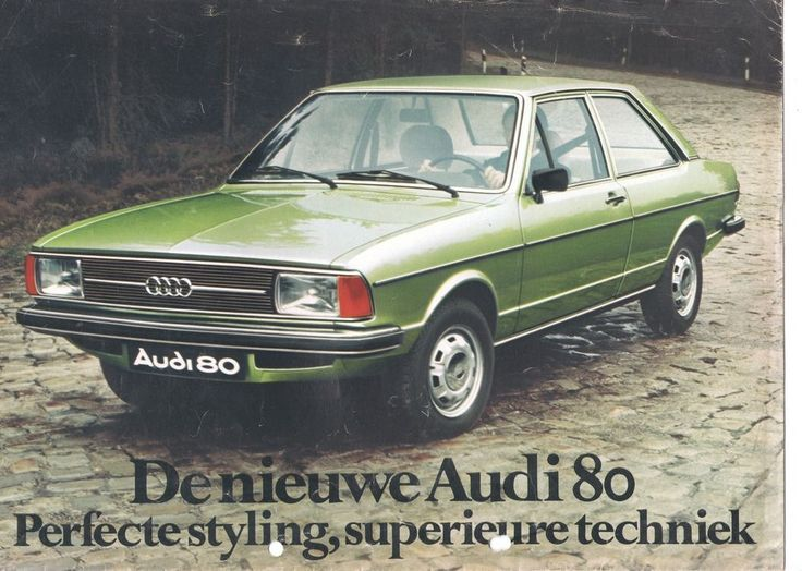 AUDI - 80 brochure/folder Dutch 1976