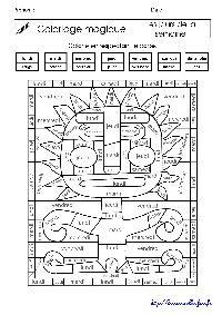 Coloriages magiques ateliers de lecture les - Coloriage magique cm1 francais ...