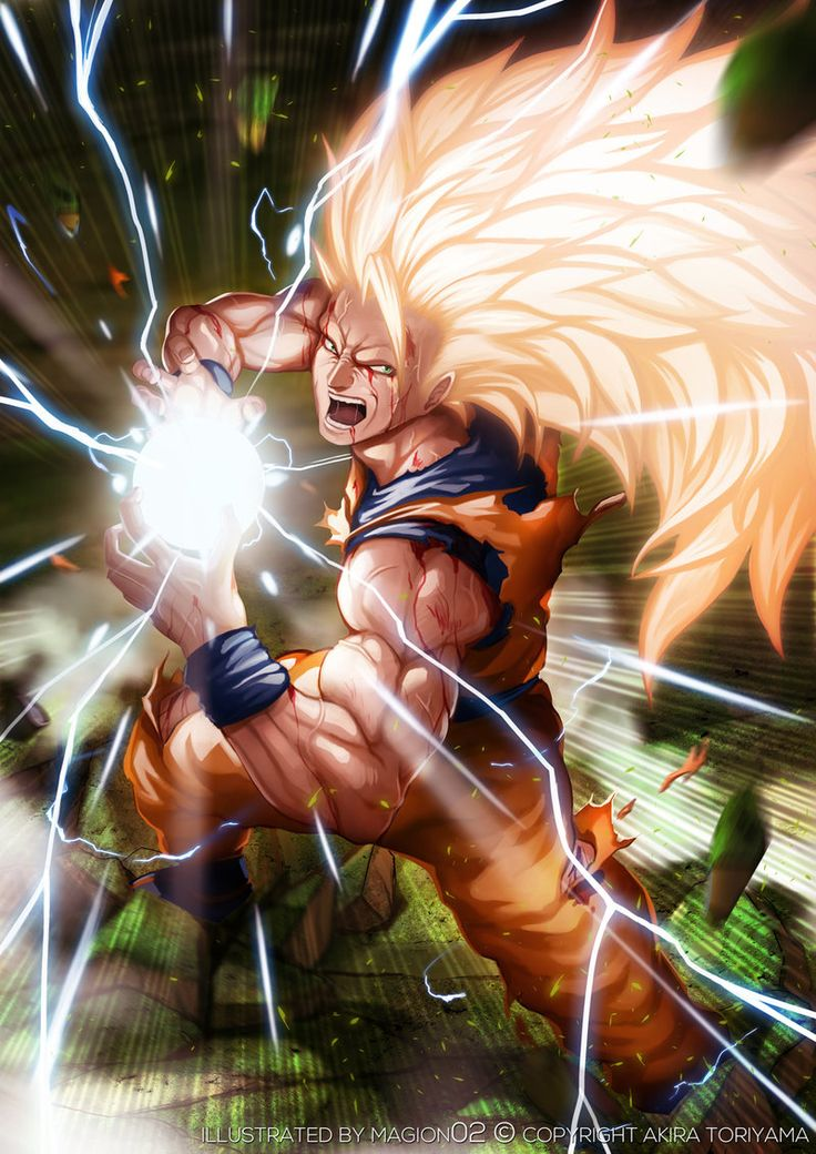 Super Saiyan 3 Son Goku by magion02.deviantart.com on @deviantART
