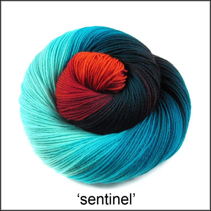 Handpainted yarn   Into the Whirled
