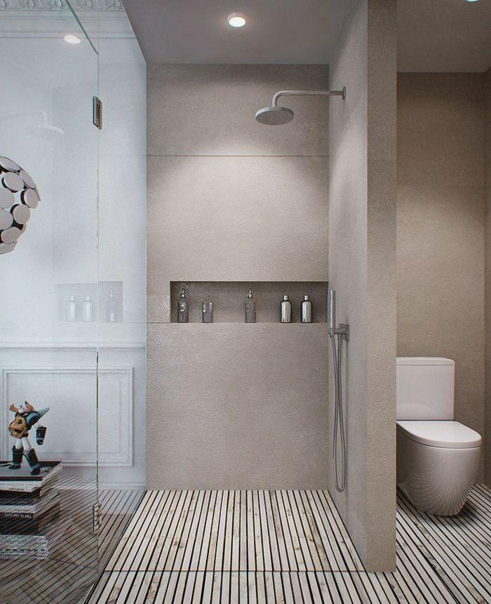 Les 25 meilleures id es concernant salle de bains taupe - Exemple amenagement salle de bain ...