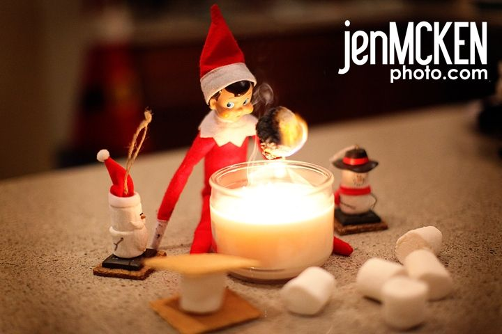 Elf on the Shelf campfire