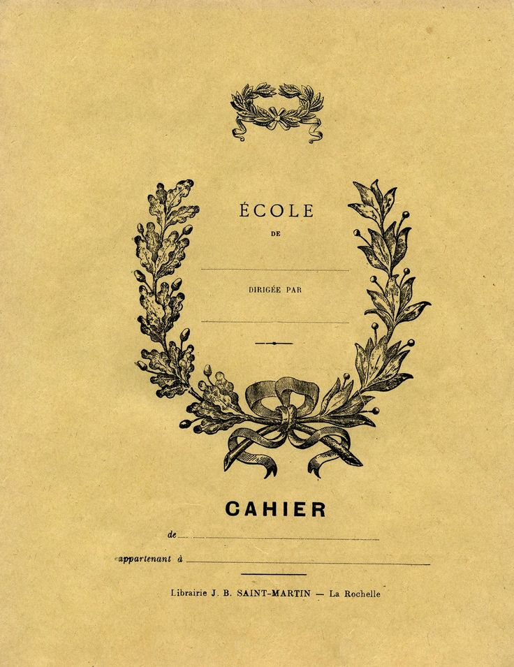 Vintage Printable Ephemera - French Journal - The Graphics Fairy