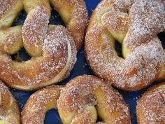 Pretzel de canela e açúcar - Veja a Receita: