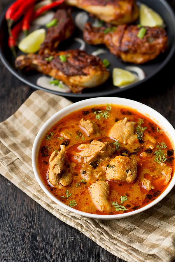 Punjabi Chicken Curry, Punjabi Dhaba Style Chicken Curry Recipe