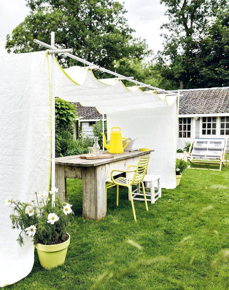 Meer dan 1000 idee n over tuin luifel op pinterest achtertuin luifel pergola gordijnen en dek - Gordijnen voor overdekt terras ...
