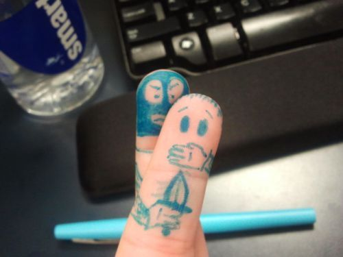 Don't do it!: Funny Things, Funny Stuff, Finger Tat, Funnies, Humor, Hilarious, Smile, Amusing Fingers