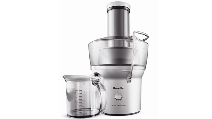 The 3-inch tube of the Breville BJE200XL juicer is very wide, even for a centrifugal juicer. #centrifugal_juicer