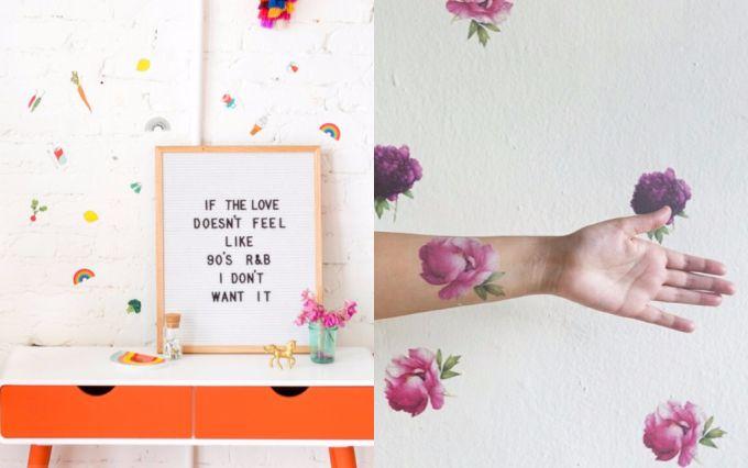 DIY: aprenda a usar tatuagem temporária como papel de parede