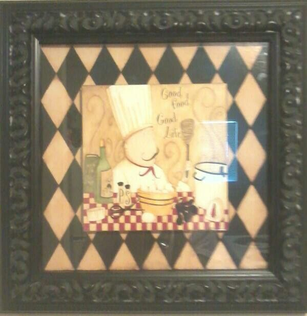 Chef decor bought at the store home goods bistro kicthen decor pinterest the o Home goods decor pinterest