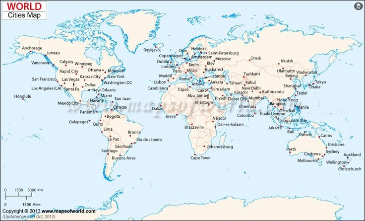 10 best map images on pinterest world maps travel cards and diagram of the world map city maps map of major cities of the world 800 x gumiabroncs Images