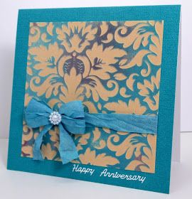 Kaisercraft paper card , Jenfa Cards: Happy Anniversary