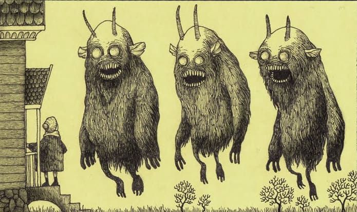 Freaky horror drawings of monsters by artist John Kenn Mortensen are the stuff of nightmares