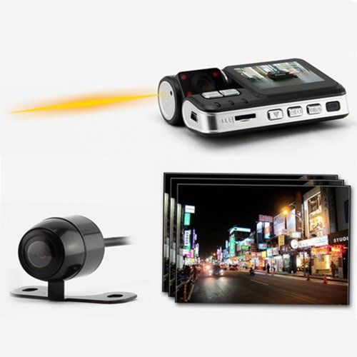 Dayday@hd 720p Dual Camera Car Dvr/video Recorder Double Lens Camcorder X2 HD traffic recorder. sensor 1AW 1.2million pixels. 120 degree wide angle lens. Polyester 800mAH ilthium battery. Dual camera.  #Unknown #HomeTheater