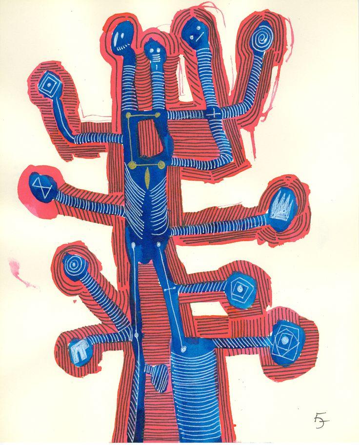 Title: Juggling variations 01 / 44/ Technic:mixed / Year:2016 / Artist: Fülöp József