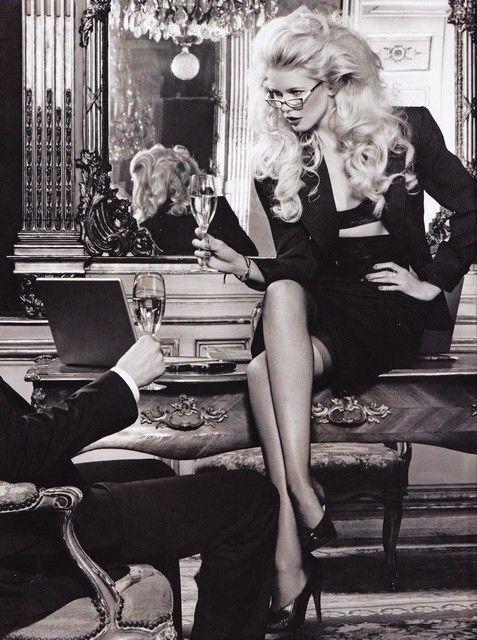 Claudia Schiffer by Karl Lagerfeld for Dom Perignon