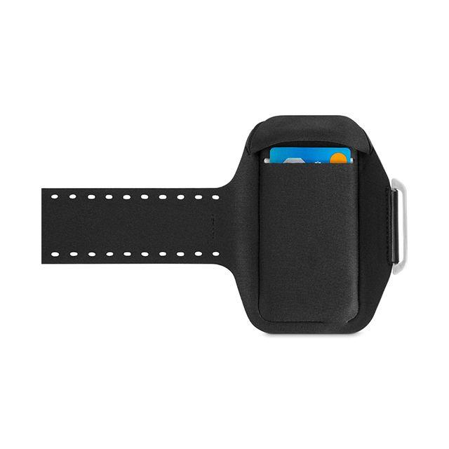【【iPhone6 Plus ケース】スポーツフィットPLUSアームバンド(ブラック・ライムライト)】● 透明なカバーはタッチ画面上の操作がしやすく、ホームボタンも…