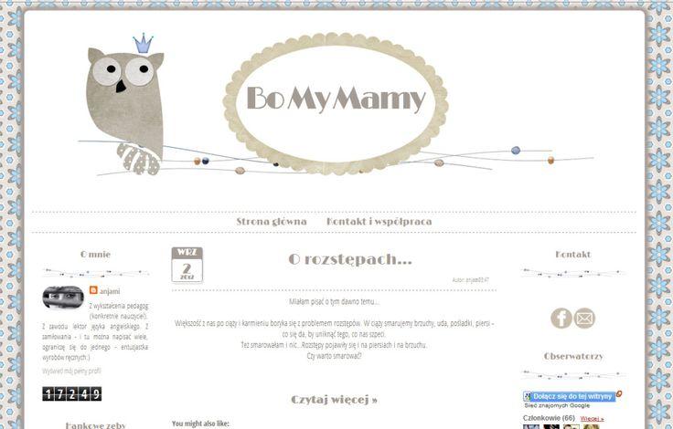 Hafija's Blogger Design: Bo My Mamy - nowa odsłona