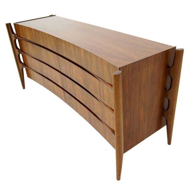 Edmund Spence Mid Century Modern Walnut Dresser, Sweden.