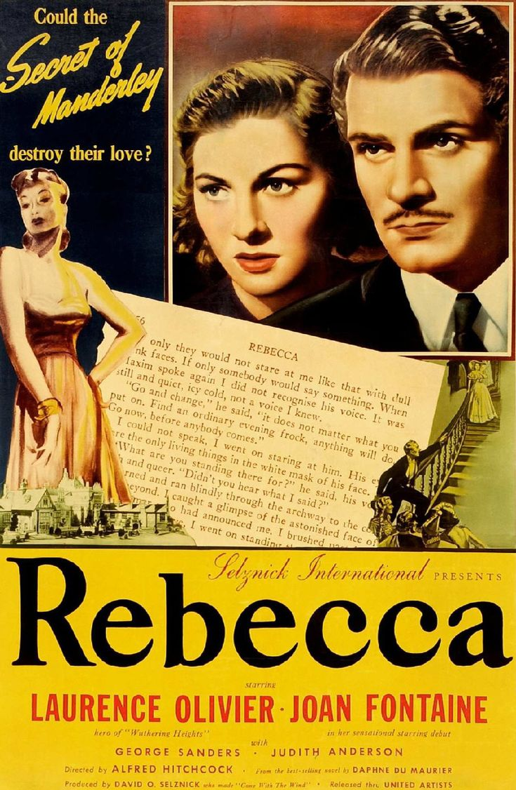 rebecca movie | Rebecca , premier film américain d' Alfred Hitchcock (1940) est