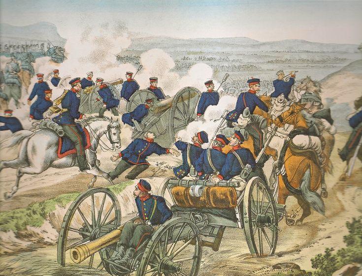LLEGADA DE LA ARTILLERIA SAJONA A KÖNIGGRATZ ( 3 de julio de 1866 )