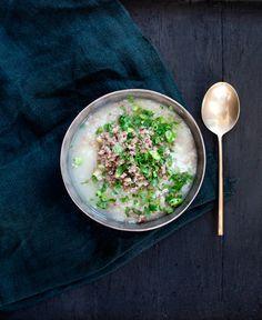 Rijstsoep met gehakt |