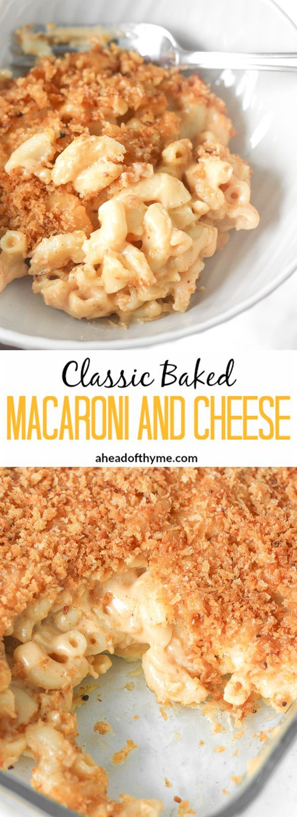 Classic Baked Macaroni and Cheese: It's officially fall so bring on the ultimate…