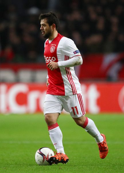 Amin Younes of Ajax in action during the UEFA Europa League Group G match between AFC Ajax and Panathinaikos FC at Amsterdam Arena on November 24, 2016 in Amsterdam, Netherlands.