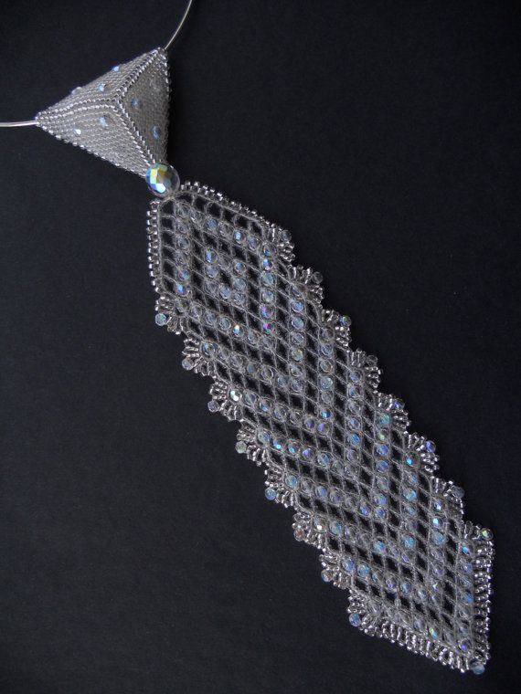 CRYSTALLIZED+TIE+by+AfinaBeads+on+Etsy,+€90.00