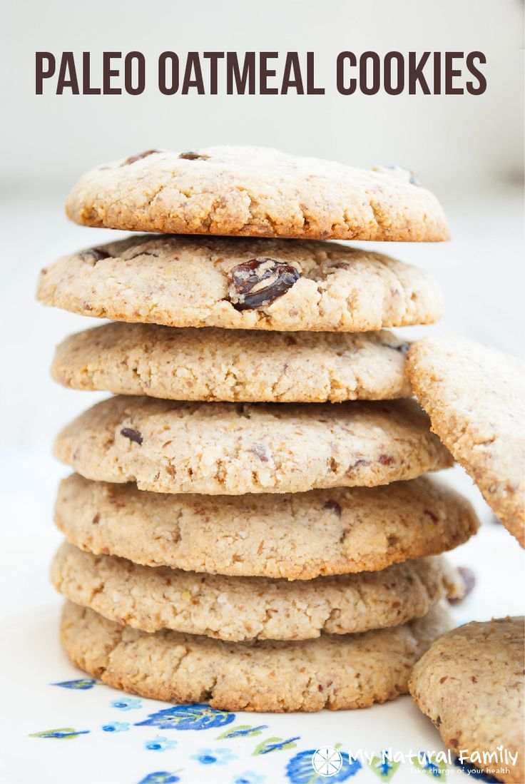 A delicious Paleo oatmeal cookies recipe to help you live a Paleo lifestyle and still enjoy delicious food. Made with almond flour, coconut flour, flax meal, and honey.