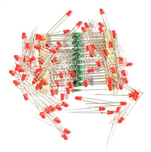 Electrobot 3mm LED Light Emitting Diodes Electronic 1/4 W Resistors Pack of 100 (Red) | Industrial and Scientific | Best news and deals!