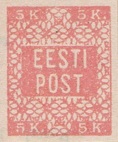 Estonia 1918. Flowers. 5 Kr
