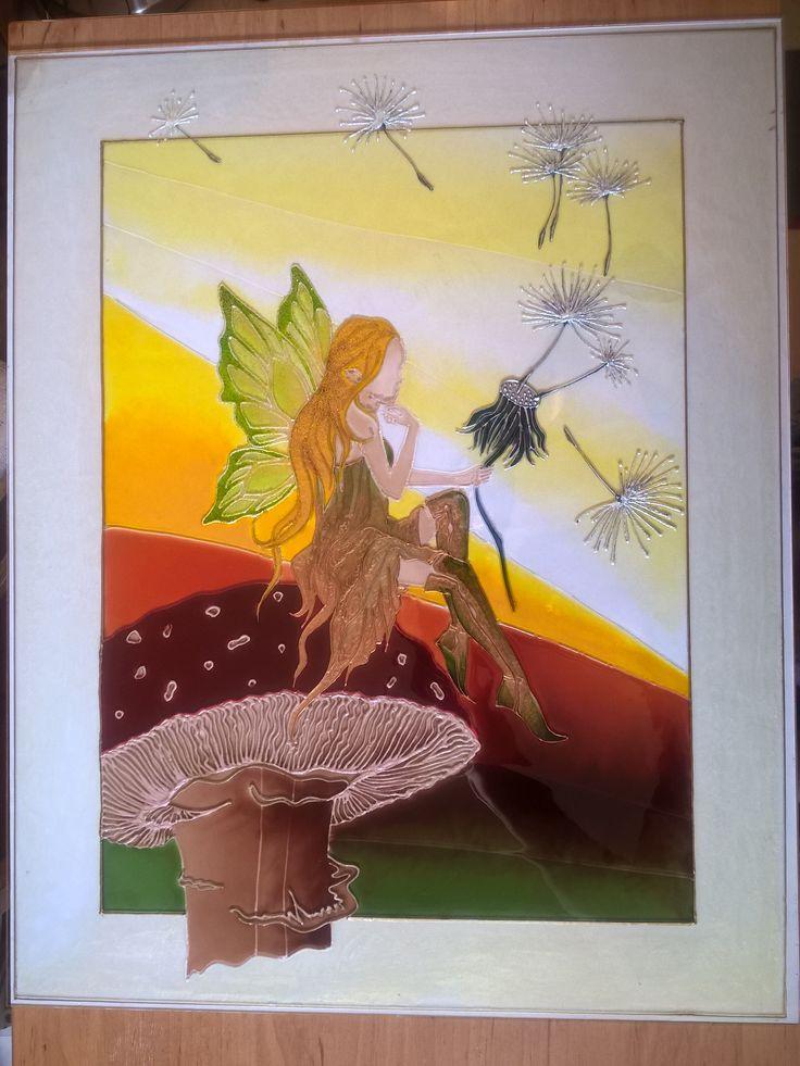 glass painting - Fairy = Üvegfestés - Tündér