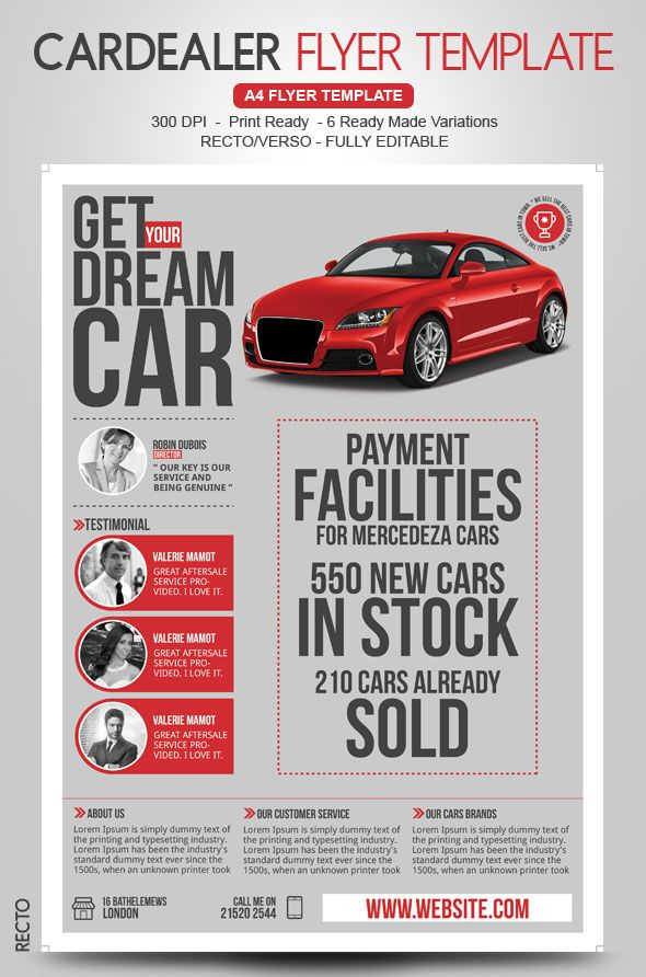 20 best wwwbehancenet images on Pinterest Brochure design - car for sale template word