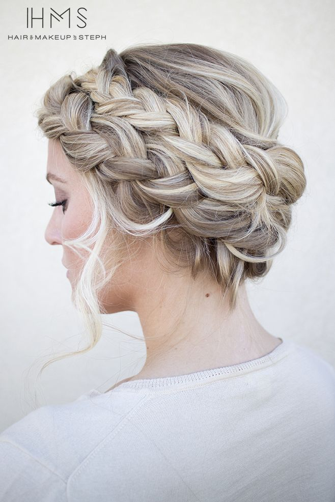 Love the Dutch braid, wrapped around and around.