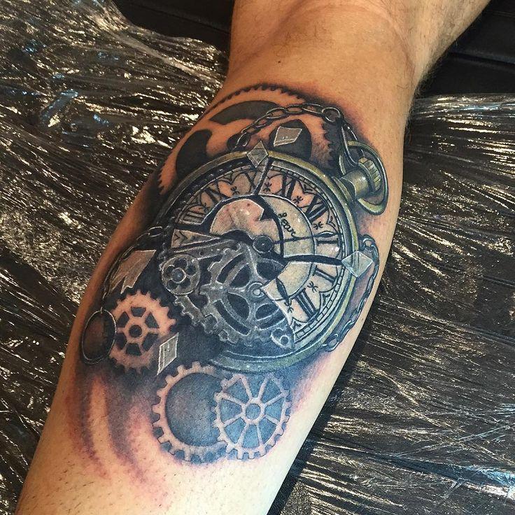 28 Watch Tattoo Designs Ideas: 45 Best Realistic Pocket Watch Tattoo Images On Pinterest