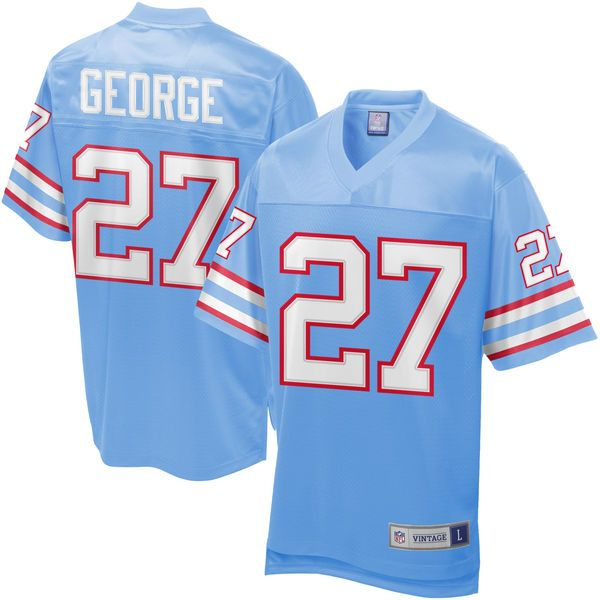 Eddie George Houston Oilers NFL Pro Line Retired Player Jersey - Light Blue - $139.99