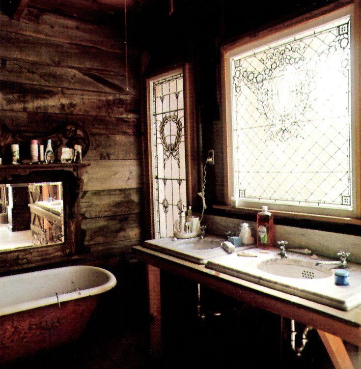 Rustic Boho Decor Bathroom.