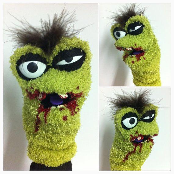Zombie Sock Puppet. $30.00, via Etsy.
