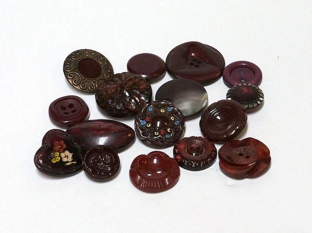Vintage knopen - Vintage Buttons - mix of 16 - Een uniek product van Ella-Osix op DaWanda