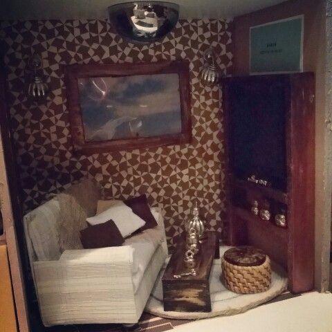 Dollhouse in progress,livingroom....