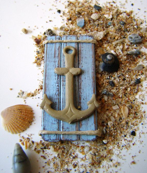 Dollhouse miniature picture anchor picture beach by DewdropMinis