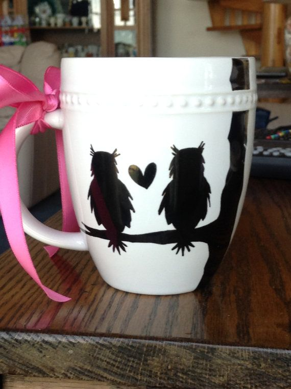 Owl Always Love You Porcelain Sharpie Mug by InKaceYoureLooking, $20.00