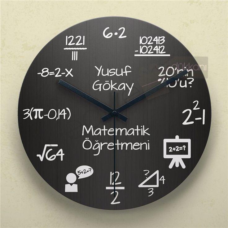 Öğretmene Hediye Matematik Duvar Saati